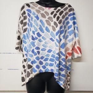 Nally & Millie  Boxy short sleeve Top Size Medium